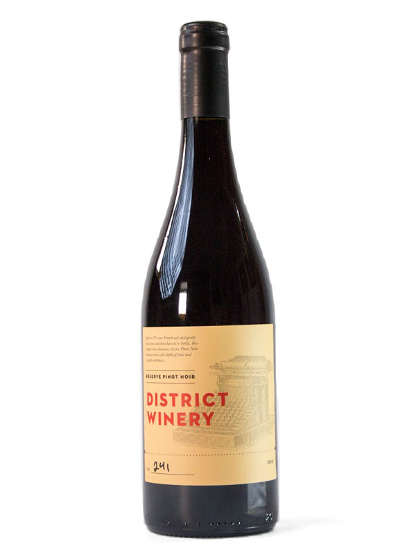 2015 District Winery Pinot Noir Reserve