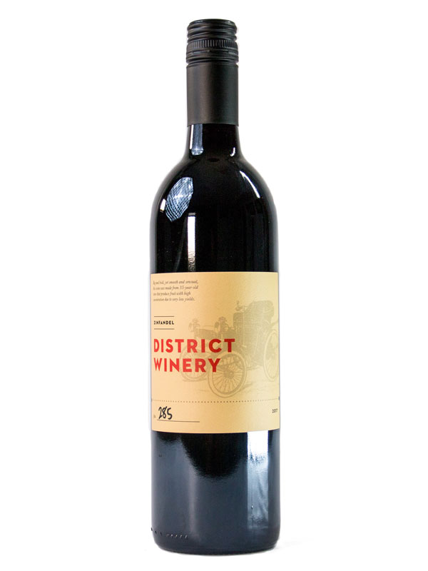 2017 District Winery Zinfandel