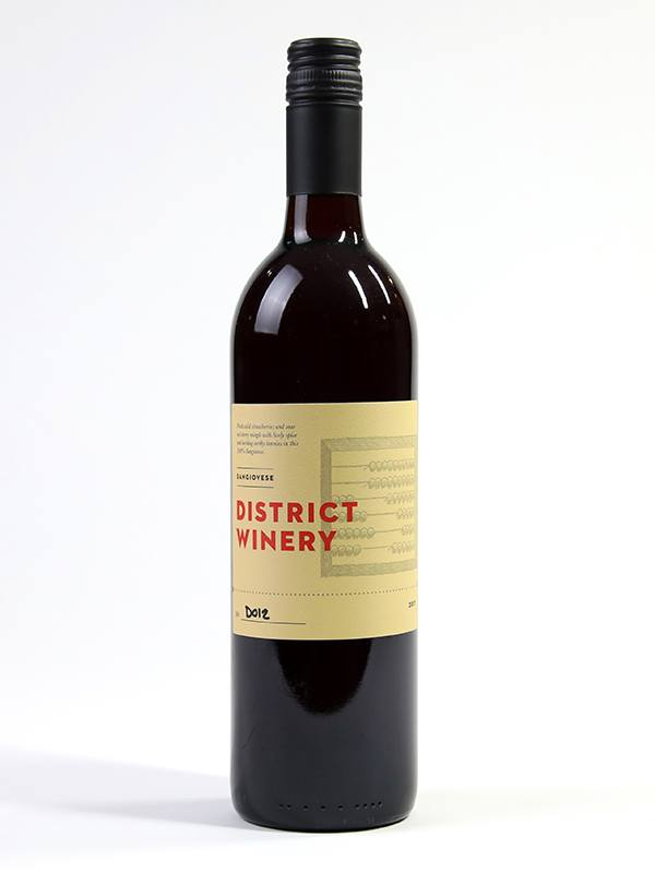 2017 District Winery Sangiovese